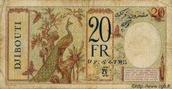 20 Francs au paon type II DJIBOUTI  1936 P.07A TB+
