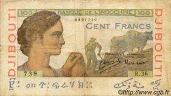100 Francs DJIBOUTI  1947 P.19A TB