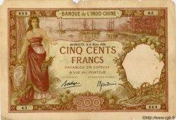500 Francs DJIBOUTI  1938 P.09b B+