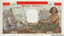 1000 Francs type 1938 à-plats rouges DJIBOUTI  1947 P.10As pr.NEUF