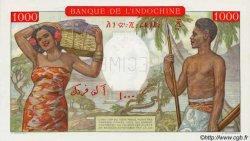 1000 Francs type 1938 à-plats rouges DJIBOUTI  1947 P.10As NEUF