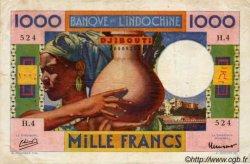 1000 Francs type 1947 DJIBOUTI  1947 P.20 TB