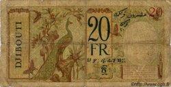 20 Francs au paon BIC Djibouti DJIBOUTI  1943 P.12A B