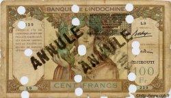 100 Francs surchargé BIC DJIBOUTI  1931 P.13A B