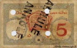 5 Francs Walhain surchargé FC DJIBOUTI  1943 P.11 B+