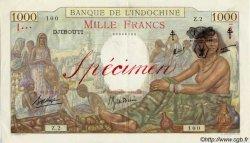1000 Francs DJIBOUTI  1943 P.13Ds SUP