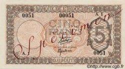 5 Francs Palestine DJIBOUTI  1945 P.14 SPL