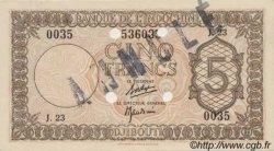 5 Francs Palestine DJIBOUTI  1945 P.14s SPL