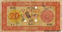 20 Francs Palestine DJIBOUTI  1945 P.15s B