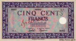 500 Francs Palestine DJIBOUTI  1945 P.17s SUP
