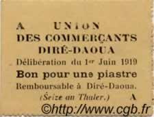 1 Piastre DJIBOUTI  1919 P. - SPL