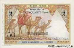 50 Francs type 1952 DJIBOUTI  1952 P.25 NEUF