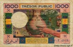1000 Francs type 1947/1952 DJIBOUTI  1952 P.28 TB