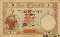 5 Francs NOUVELLES HÉBRIDES  1941 P.04a TB