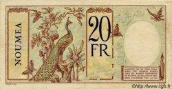 20 Francs au paon NOUVELLES HÉBRIDES  1941 P.06 TTB