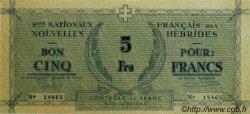 5 Francs NOUVELLES HÉBRIDES  1943 P.01 pr.NEUF
