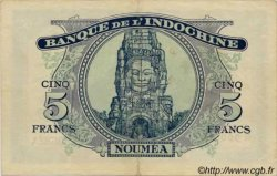 5 Francs impression australienne surchargé NOUVELLES HÉBRIDES  1945 P.05 TTB+