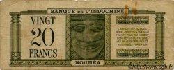 20 Francs impression australienne surchargé NOUVELLES HÉBRIDES  1945 P.07 pr.TB