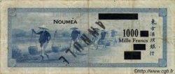 1000 Francs impression américaine surchargé NOUVELLES HÉBRIDES  1945 P.13 TB+