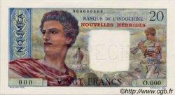 20 Francs NOUVELLES HÉBRIDES  1941 P.08as NEUF