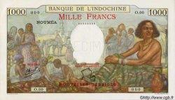 1000 Francs type 1938 NOUVELLES HÉBRIDES  1941 P.15s NEUF