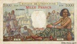 1000 Francs type 1938 NOUVELLES HÉBRIDES  1941 P.15 TB+