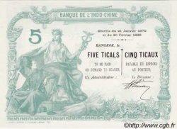 5 Ticaux THAÏLANDE  1898 PS.101 var NEUF