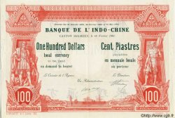100 Dollars - 100 Piastres INDOCHINE FRANÇAISE  1901 PS.439 SUP