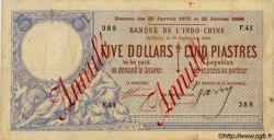 5 Dollars / 5 Piastres INDOCHINE FRANÇAISE  1900 P.029 TB+