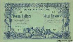 20 Dollars / 20 Piastres INDOCHINE FRANÇAISE  1876 P.022s SPL
