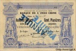 100 Dollars / 100 Piastres INDOCHINE FRANÇAISE  1886 P.023 TB+