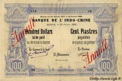100 Dollars / 100 Piastres INDOCHINE FRANÇAISE  1899 P.031 pr.TTB