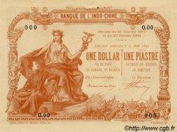 1 Dollar - 1 Piastre marron INDOCHINE FRANÇAISE Saïgon 1898 P.027s SUP+