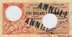 5 Dollars - 5 Piastres INDOCHINE FRANÇAISE Haïphong 1900 P.008 B