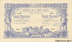20 Piastres / 20 Piastres INDOCHINE FRANÇAISE  1905 P.036s NEUF
