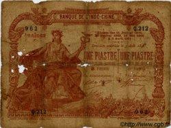 1 Piastre / 1 Piastre INDOCHINE FRANÇAISE  1909 P.034a AB