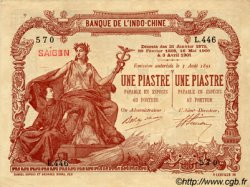 1 Piastre / 1 Piastre INDOCHINE FRANÇAISE  1909 P.034b pr.SPL