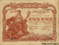 1 Piastre - 1 Piastre INDOCHINE FRANÇAISE Saïgon 1909 P.034b TB+