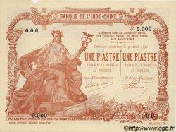 1 Piastre / 1 Piastre INDOCHINE FRANÇAISE  1909 P.034bs SPL