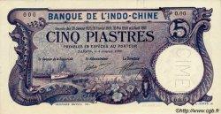 5 Piastres INDOCHINE FRANÇAISE  1909 P.037as NEUF