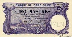 5 Piastres INDOCHINE FRANÇAISE  1920 P.040s pr.NEUF