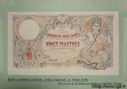 20 Piastres INDOCHINE FRANÇAISE  1904 P.000 SUP