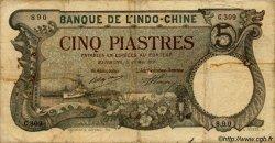 5 Piastres INDOCHINE FRANÇAISE  1920 P.019 B+