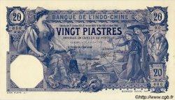 20 Piastres INDOCHINE FRANÇAISE  1909 P.038as pr.NEUF