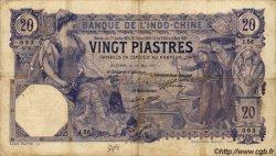 20 Piastres INDOCHINE FRANÇAISE  1917 P.038b TB