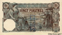 20 Piastres INDOCHINE FRANÇAISE  1917 P.017b SUP+