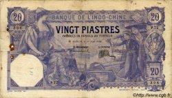 20 Piastres INDOCHINE FRANÇAISE  1920 P.041 TB