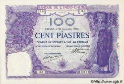 100 Piastres INDOCHINE FRANÇAISE  1910 P.039s pr.NEUF