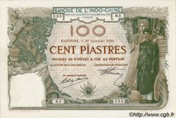 100 Piastres INDOCHINE FRANÇAISE Haïphong 1910 P.018s NEUF