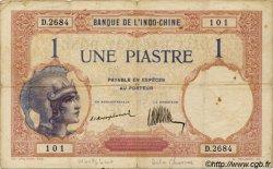 1 Piastre INDOCHINE FRANÇAISE  1923 P.048a TB